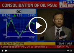 Mr. B Ashok, Chairman, IndianOil in conversation with ET NOW on Consolidation of Oil PSUs