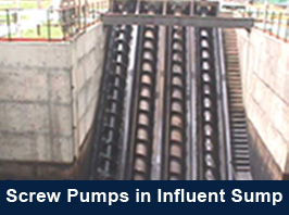 Screw Pumps in Influent Sump