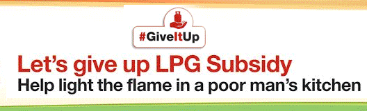 Give Up LPG Subsidy