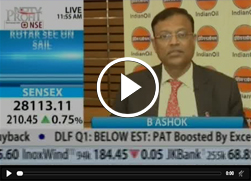 Mr. B. Ashok, Chairman, IndianOil & Mr. A.K. Sharma, Director (Finance), IndianOil talk about rise in Q1 earnings on NDTV Profit