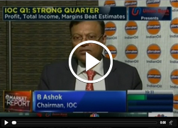 Chairman, IndianOil, Mr. B. Ashok speaks to CNBC TV18 about the strong financial gains made in Q1