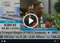Mr. B. Ashok, Chairman, IndianOil speaks to NDTV Profit about Less Cash, More Cards @ Petrol Pumps
