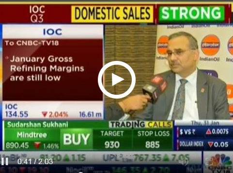 Mr. Sanjiv Singh, Chairman, IndianOil speaks to CNBC TV18 during the Q3 results - 2019